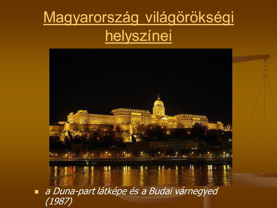 Magyarország világörökségi helyszínei a Duna-part látképe és a Budai várnegyed (1987)