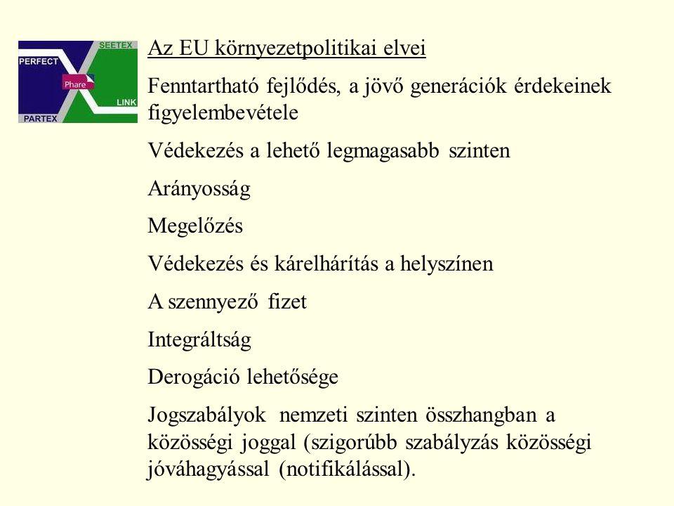 A legújabb elvek: A bizonyítás terhe a szennyezőnél Helyettesítés A 6.