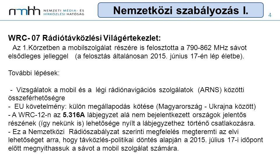 5 EU szabályozás: 2012.