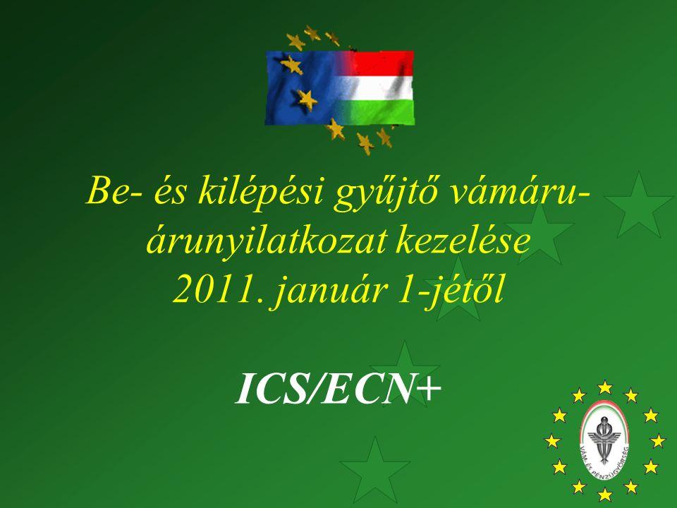 Be- és kilépési gyűjtő vámáru- árunyilatkozat kezelése 2011. január 1-jétől ICS/ECN+