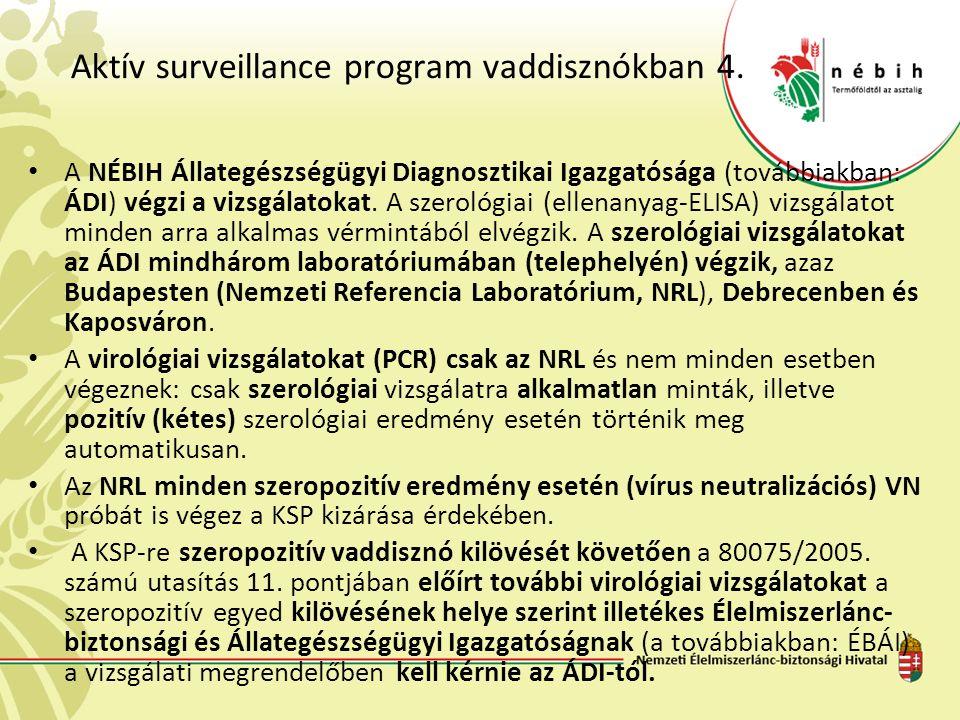 Aktív surveillance program vaddisznókban 4.