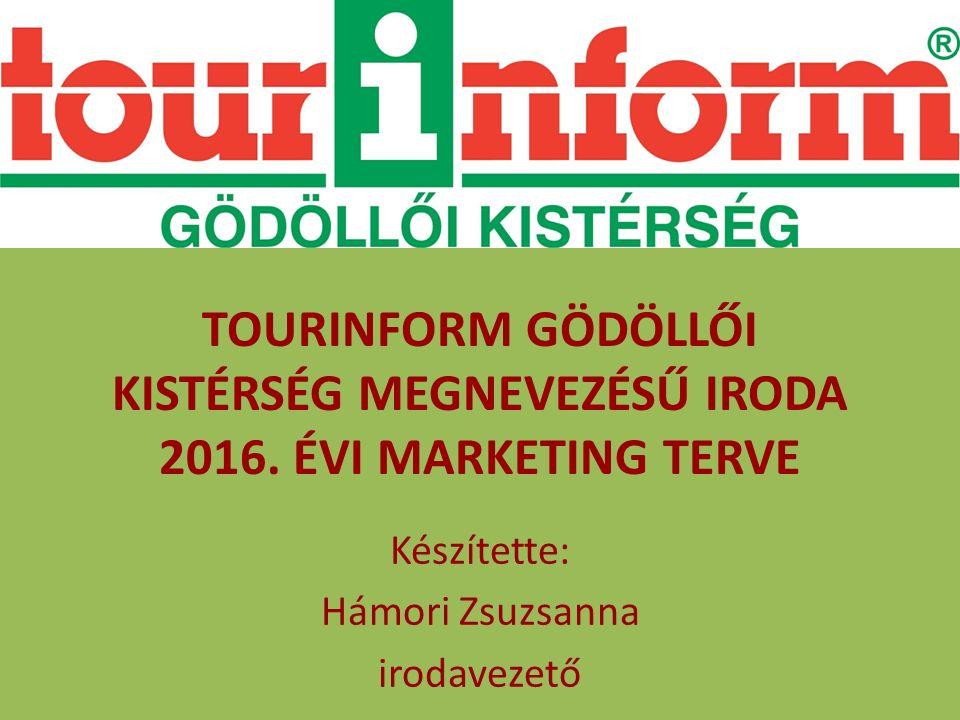 TOURINFORM GÖDÖLLŐI KISTÉRSÉG MEGNEVEZÉSŰ IRODA 2016.