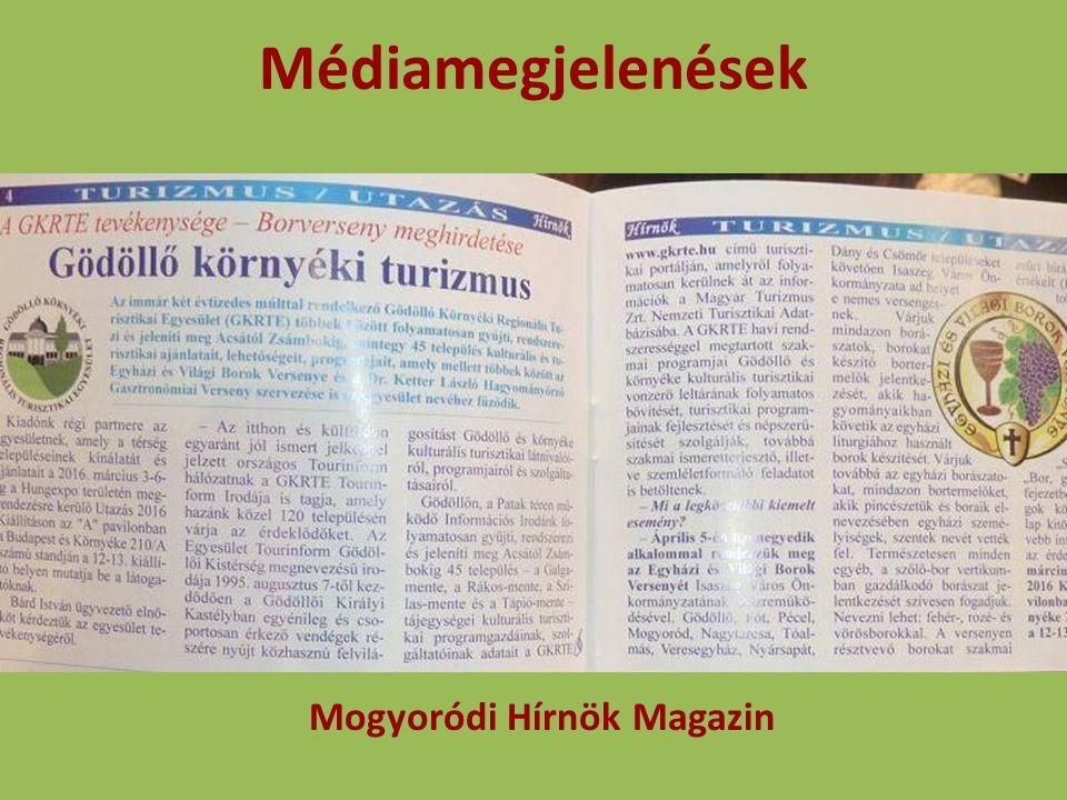 Médiamegjelenések Mogyoródi Hírnök Magazin