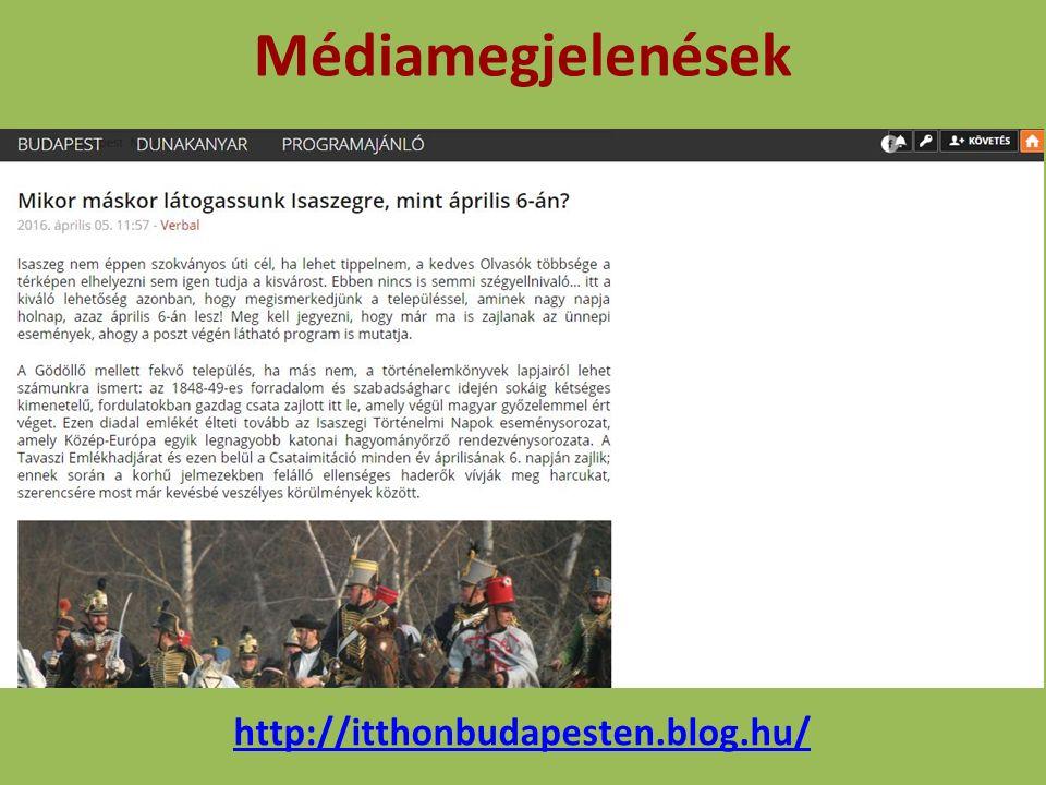 Médiamegjelenések http://itthonbudapesten.blog.hu/