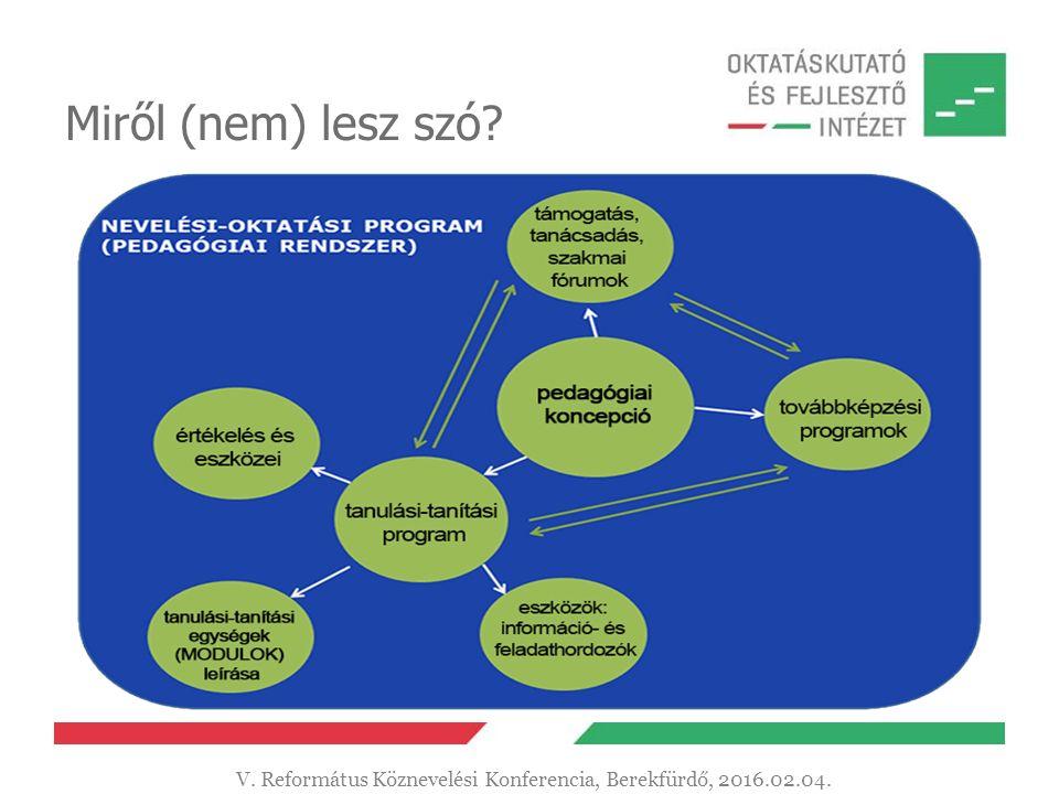 Miről (nem) lesz szó V. Református Köznevelési Konferencia, Berekfürdő, 2016.02.04.