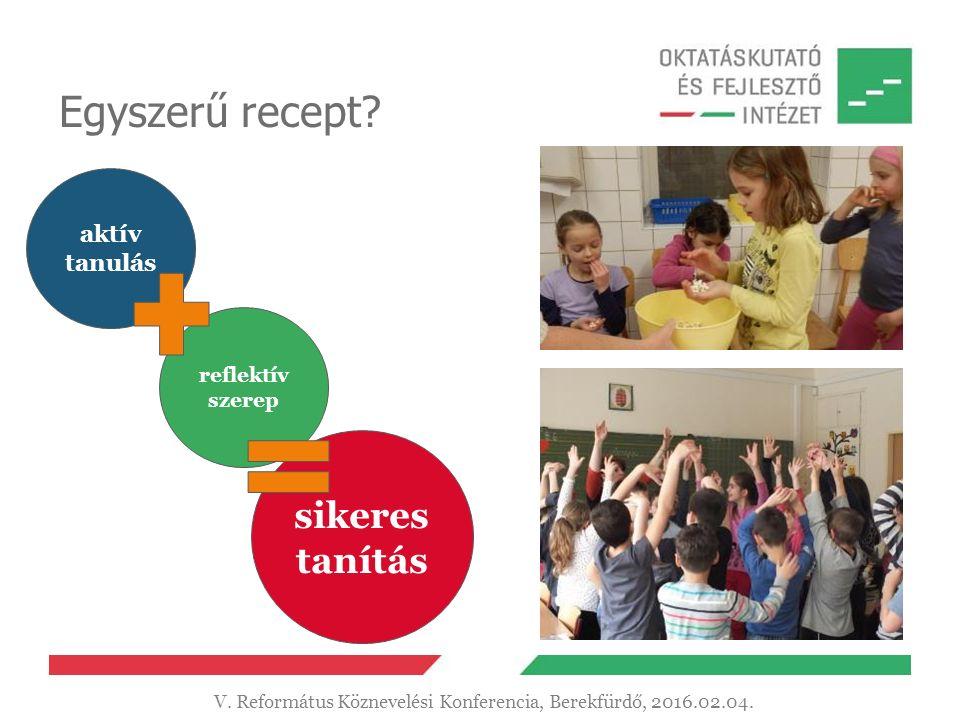 Egyszerű recept. aktív tanulás reflektív szerep sikeres tanítás V.