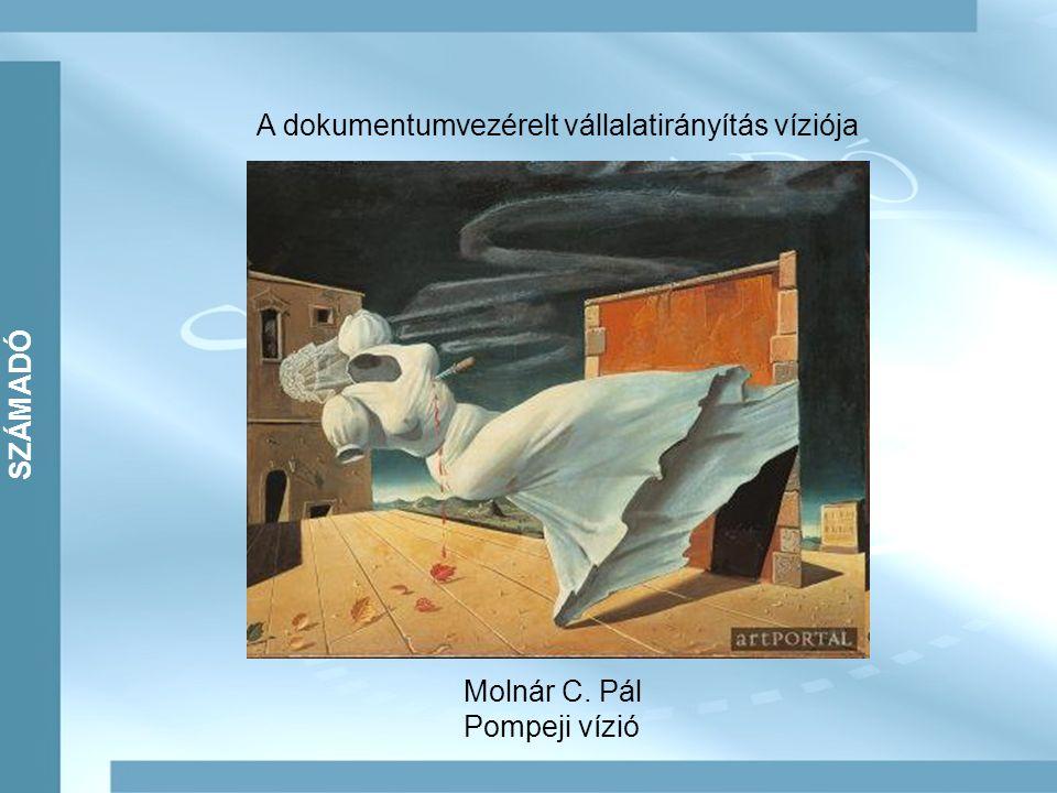 SZÁMADÓ A dokumentumvezérelt vállalatirányítás víziója Molnár C. Pál Pompeji vízió