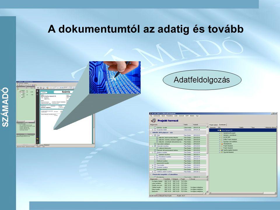SZÁMADÓ A dokumentumtól az adatig és tovább Adatfeldolgozás