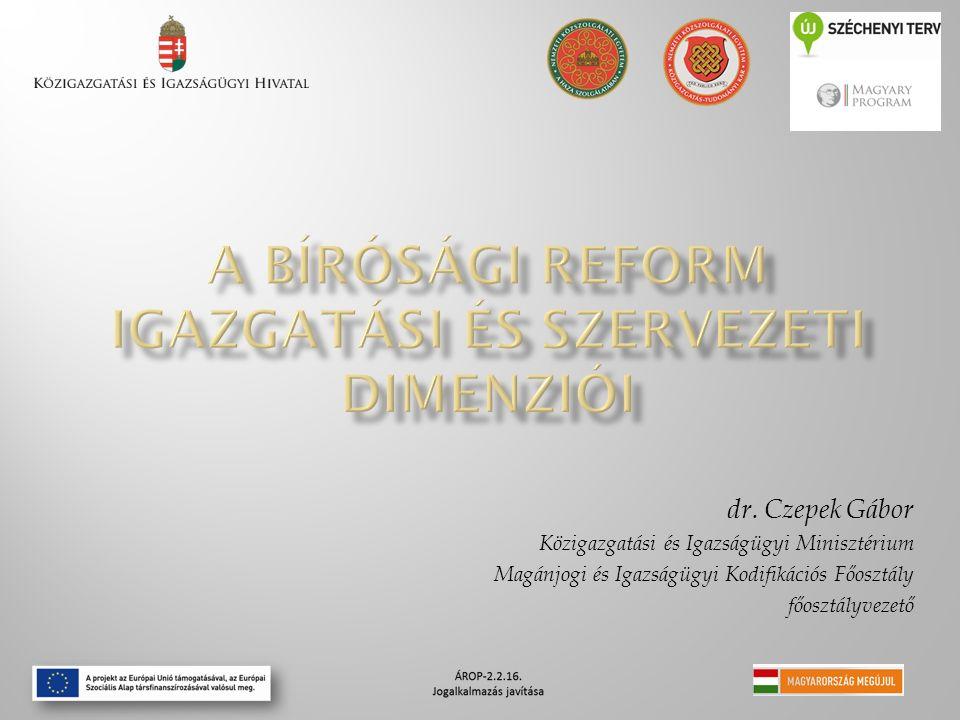 dr. Czepek Gábor Közigazgatási és Igazságügyi Minisztérium Magánjogi és Igazságügyi Kodifikációs Főosztály főosztályvezető