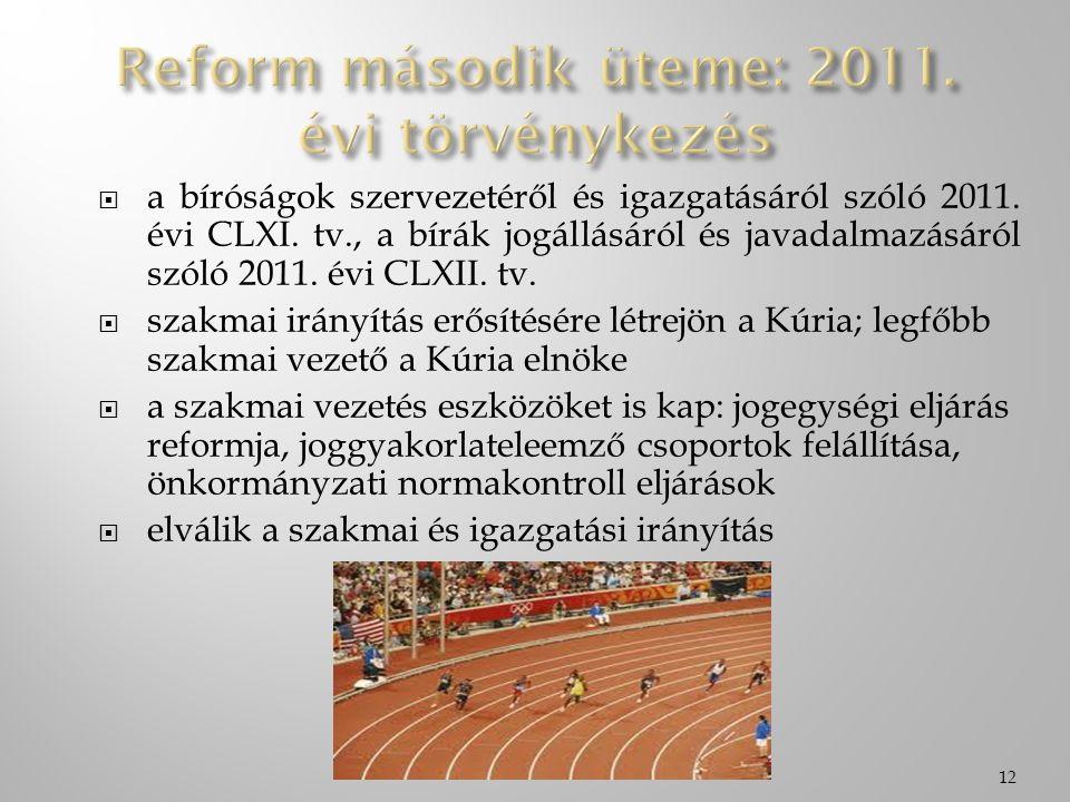  a bíróságok szervezetéről és igazgatásáról szóló 2011. évi CLXI. tv., a bírák jogállásáról és javadalmazásáról szóló 2011. évi CLXII. tv.  szakmai