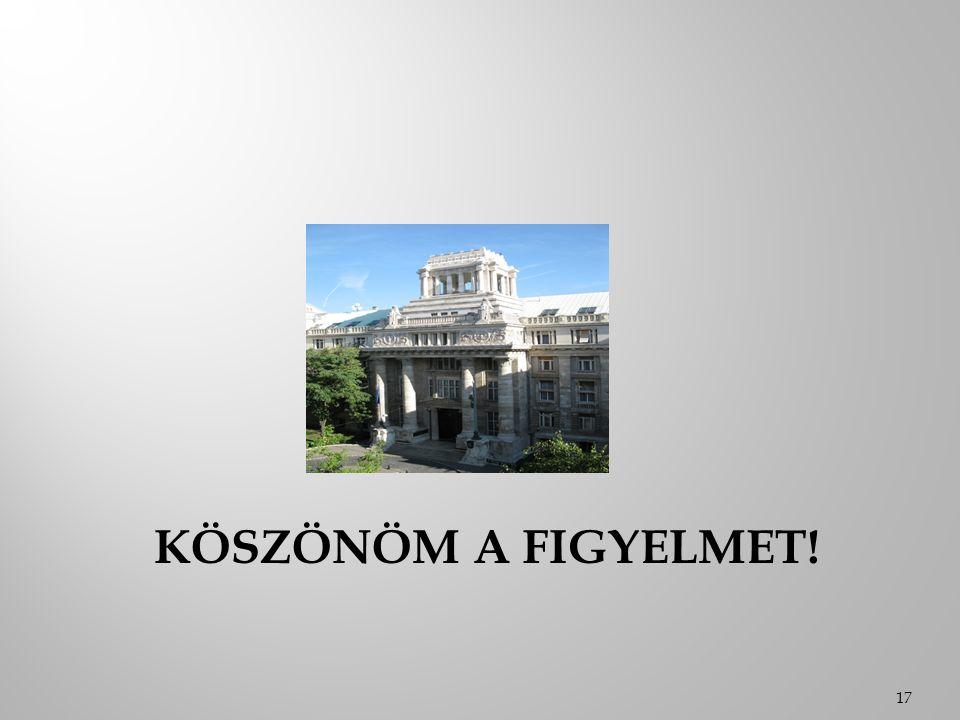 KÖSZÖNÖM A FIGYELMET! 17
