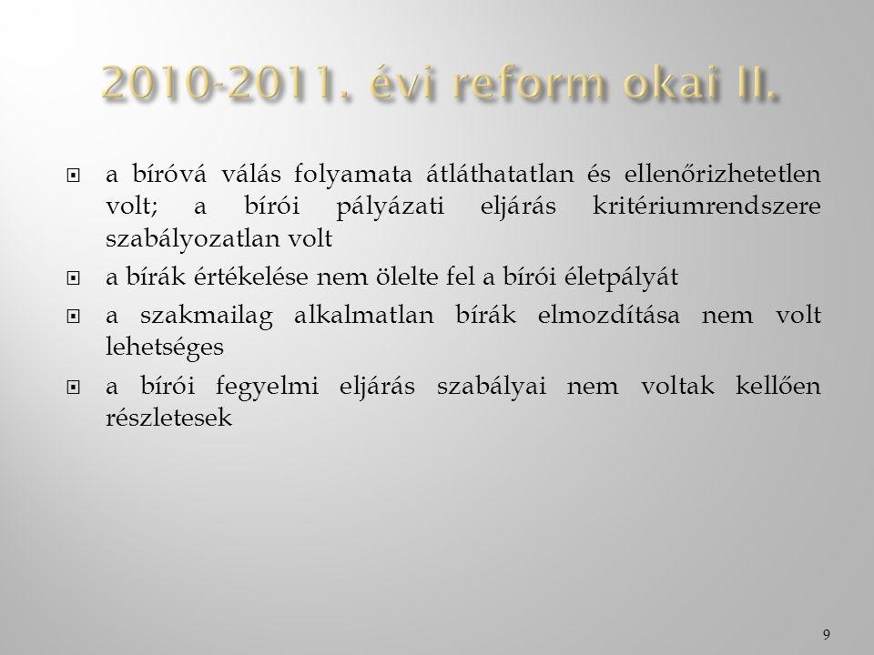  egyes törvényeknek a bíróságok hatékony működését és a bírósági eljárások gyorsítását szolgáló módosításáról szóló 2010.