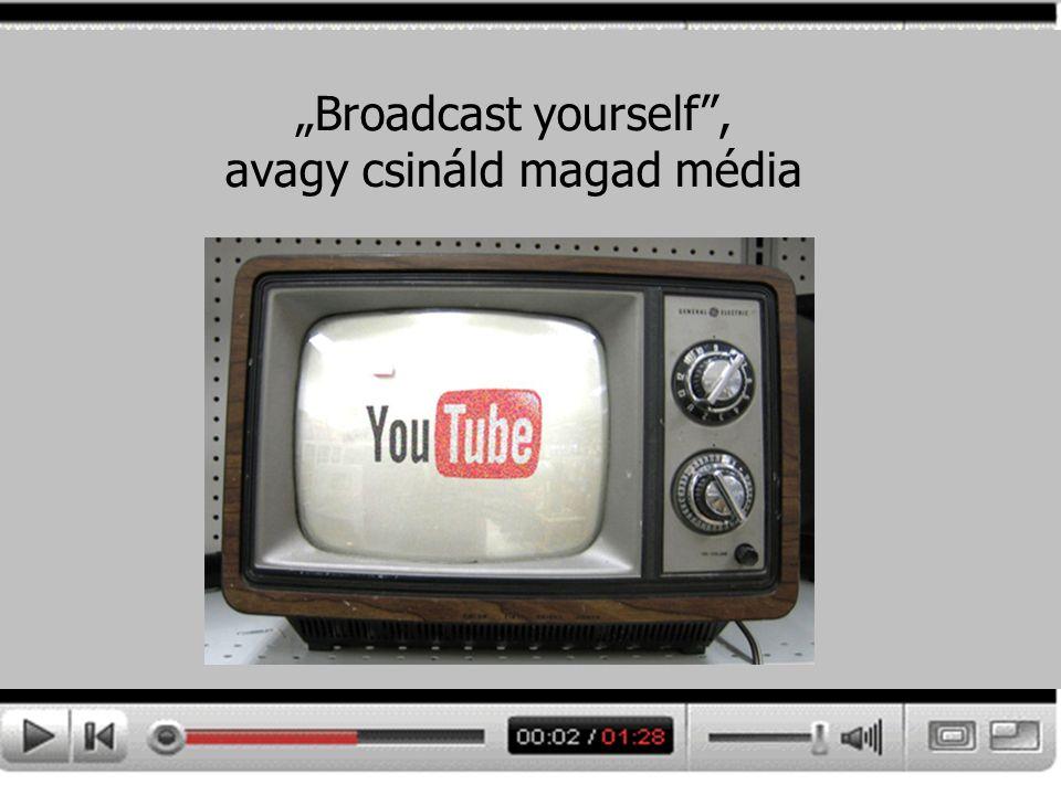 """""""Broadcast yourself"""", avagy csináld magad média"""