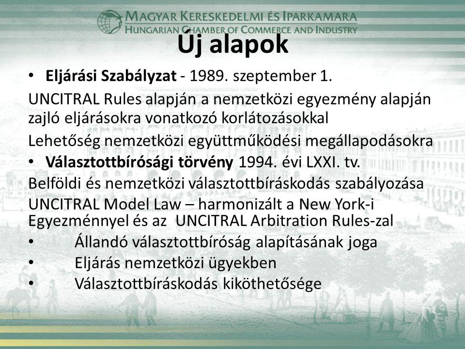 Új alapok Eljárási Szabályzat - 1989. szeptember 1.