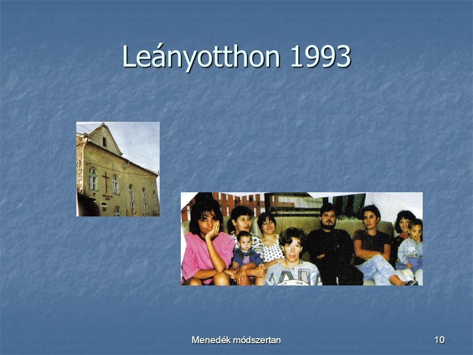 Menedék módszertan10 Leányotthon 1993