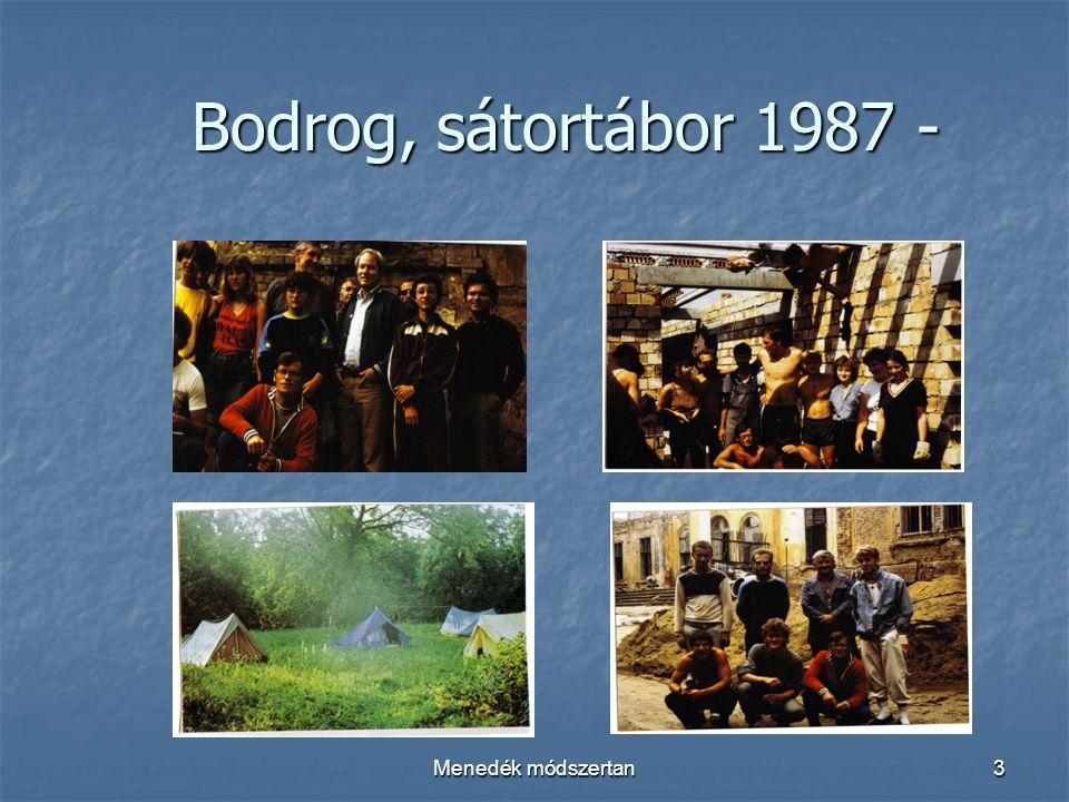 Menedék módszertan3 Bodrog, sátortábor 1987 - Bodrog, sátortábor 1987 -