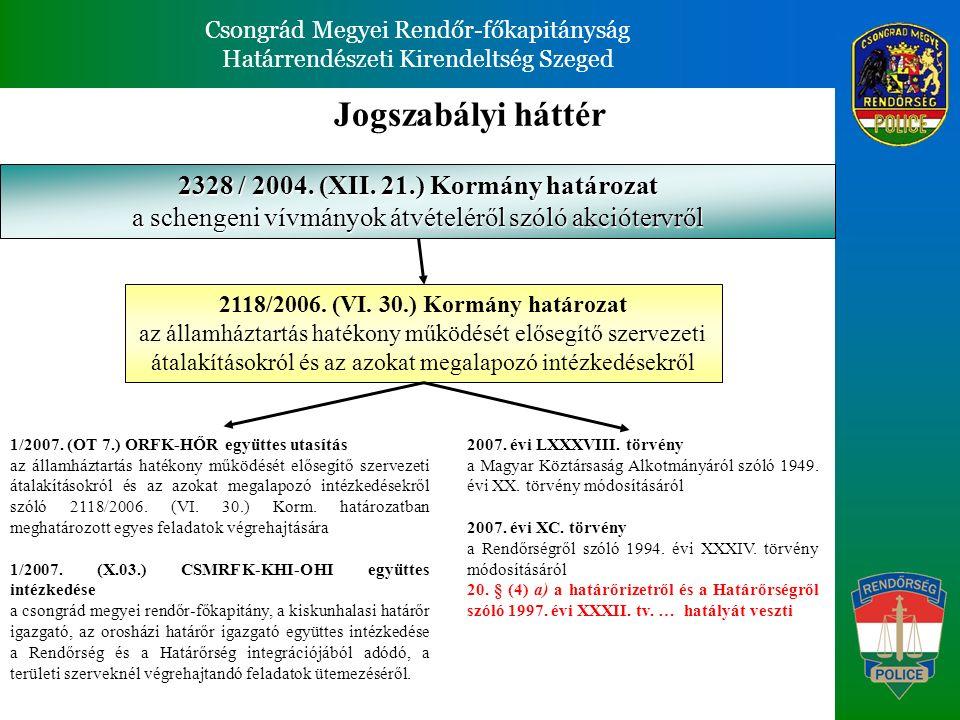 Csongrád Megyei Rendőr-főkapitányság Határrendészeti Kirendeltség Szeged Csongrád Megyei Rendőr-főkapitányság Határrendészeti Kirendeltség Szeged Csongrád MRFK.