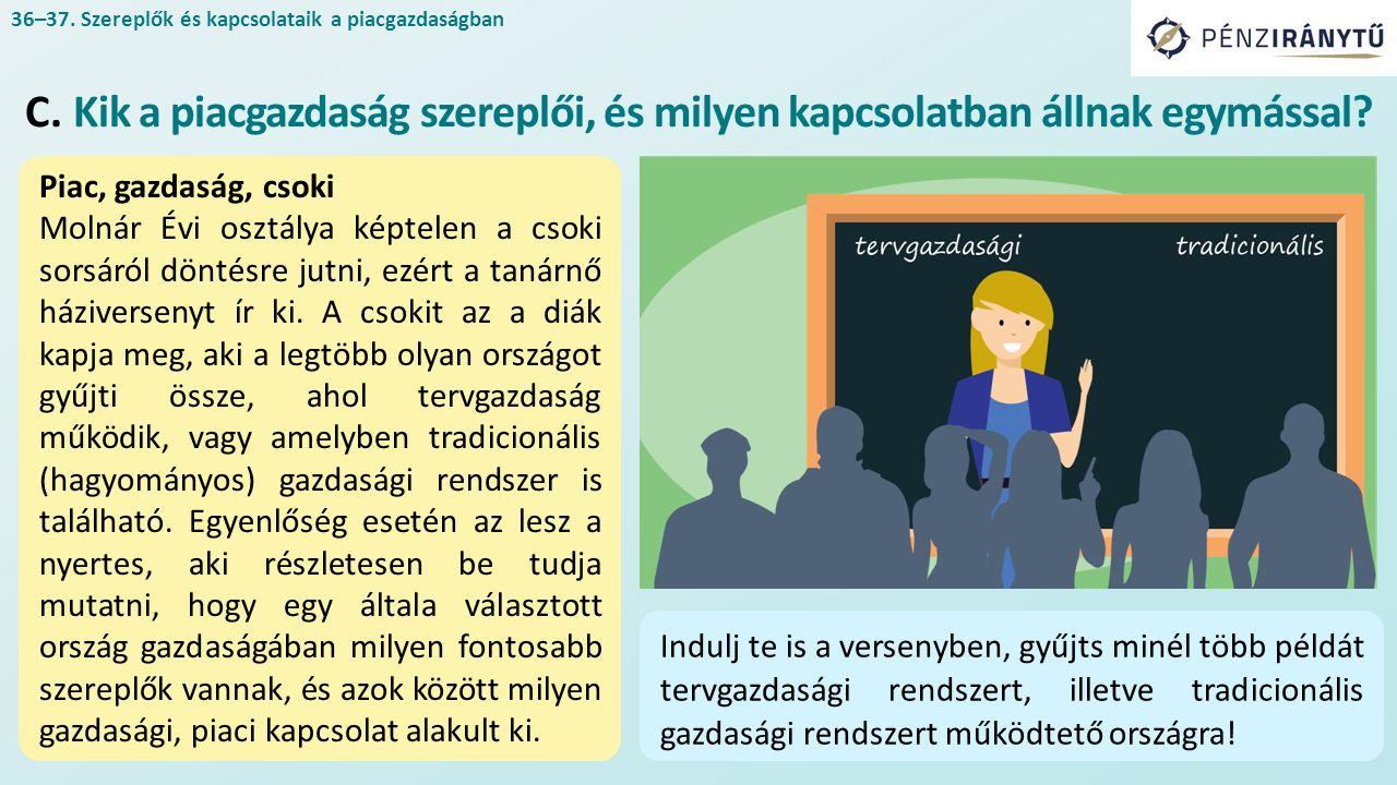 Piac, gazdaság, csoki Molnár Évi osztálya képtelen a csoki sorsáról döntésre jutni, ezért a tanárnő háziversenyt ír ki.