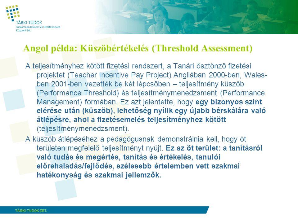 TÁRKI-TUDOK ZRT.Hogyan mérjük a tanárok teljesítményét.