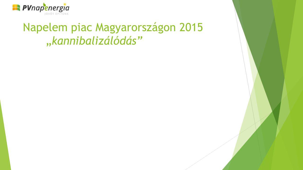 """Napelem piac Magyarországon 2015 """"kannibalizálódás"""