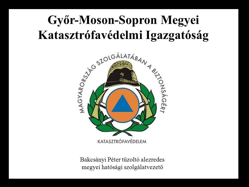 Győr-Moson-Sopron Megyei Katasztrófavédelmi Igazgatóság Bakcsányi Péter tűzoltó alezredes megyei hatósági szolgálatvezető