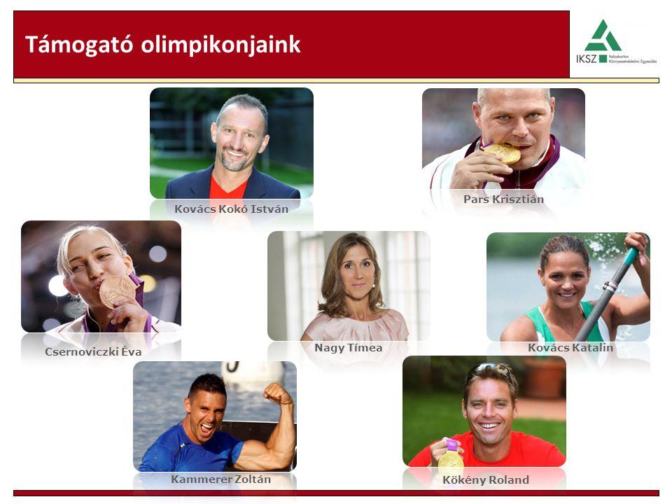 Támogató olimpikonjaink Pars Krisztián Csernoviczki Éva Kovács Kokó István Kökény Roland Kammerer Zoltán Kovács Katalin Nagy Tímea