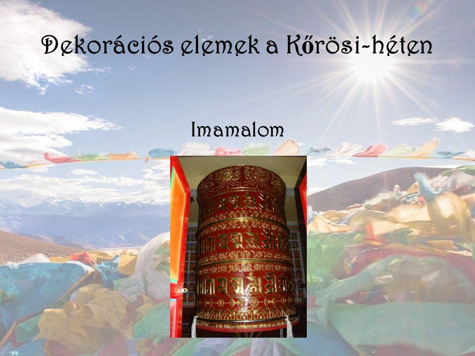 Dekorációs elemek a K ő rösi-héten Imamalom
