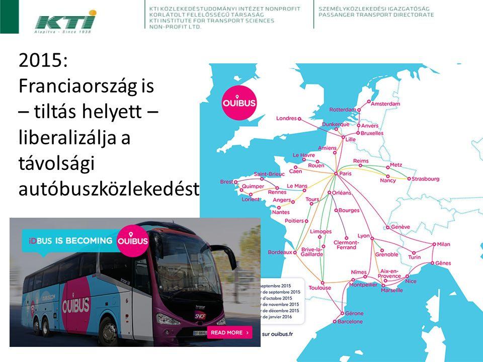 2015: Franciaország is – tiltás helyett – liberalizálja a távolsági autóbuszközlekedést