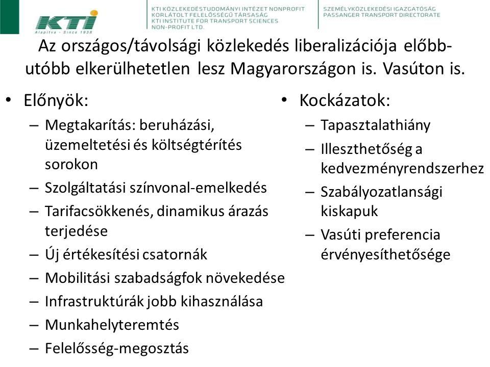 Az országos/távolsági közlekedés liberalizációja előbb- utóbb elkerülhetetlen lesz Magyarországon is.