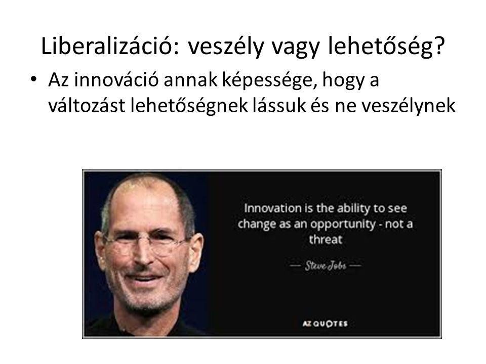 Liberalizáció: veszély vagy lehetőség.