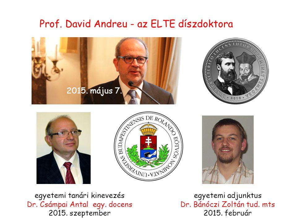 egyetemi tanári kinevezés Dr. Csámpai Antal egy. docens 2015.