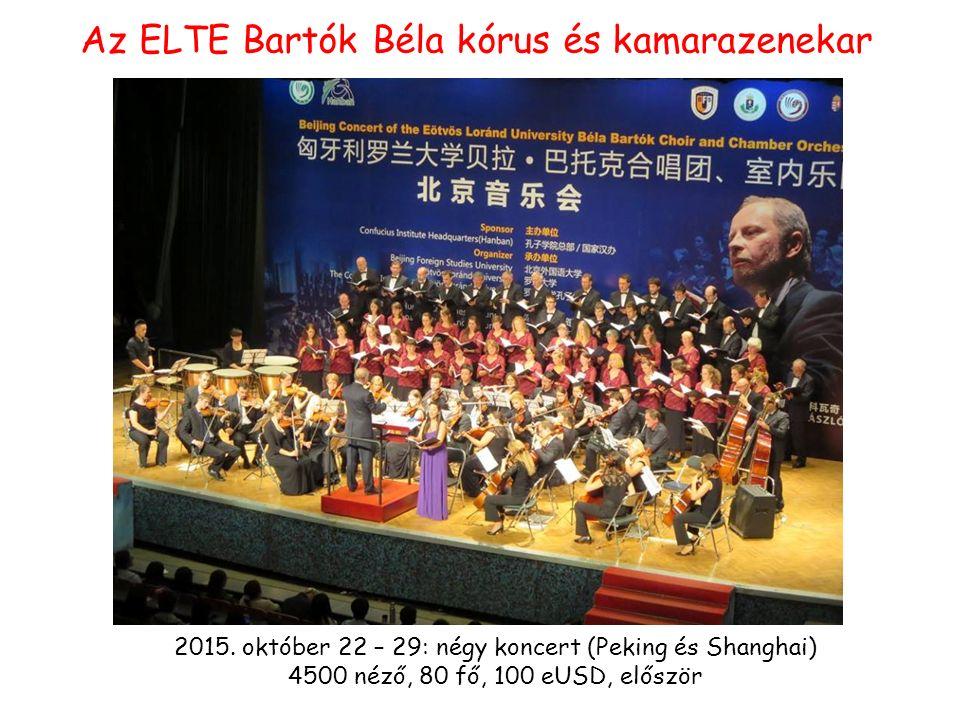 Az ELTE Bartók Béla kórus és kamarazenekar 2015.