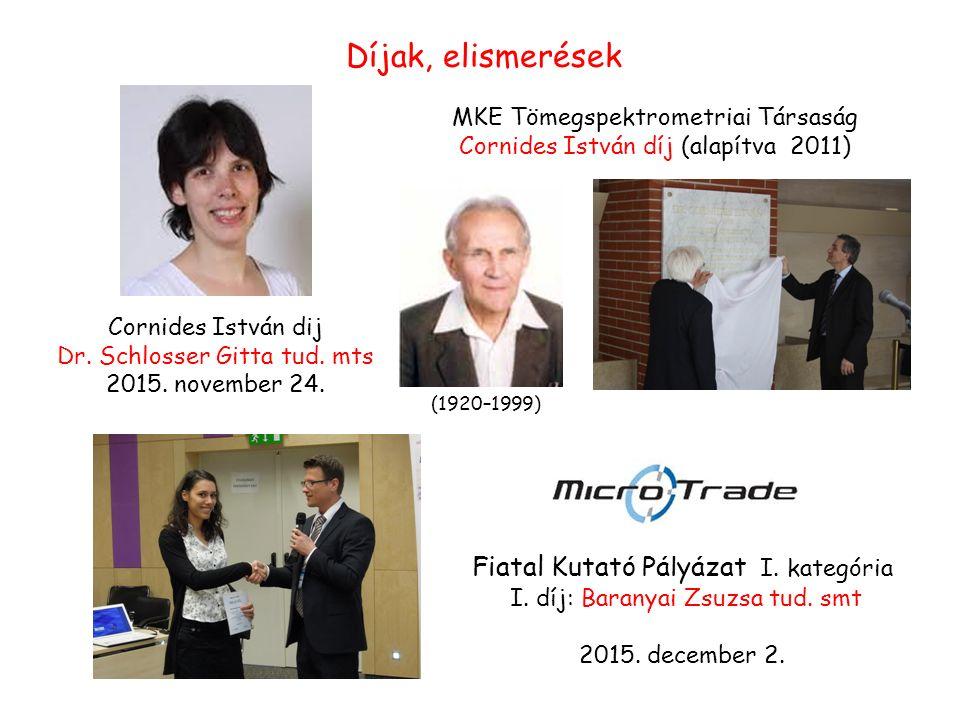 Cornides István dij Dr. Schlosser Gitta tud. mts 2015.