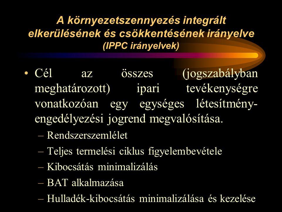 Környezeti információs irányelv A polgároknak lehetőséget kell teremteni az informálódásra: –A nyilvánosság általános informálása a környezet állapotáról, pl.