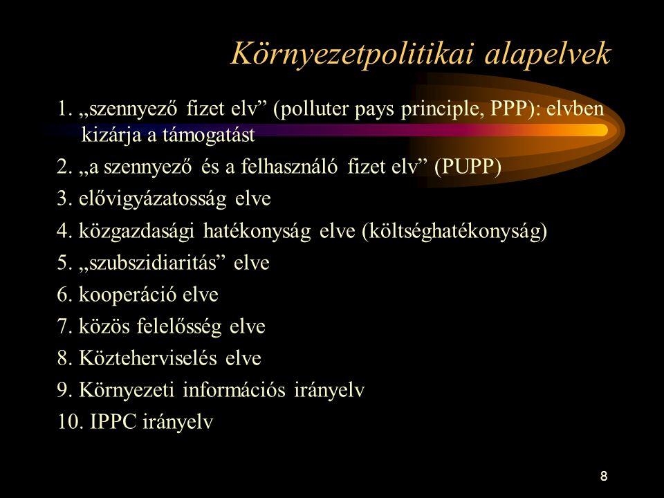 8 Környezetpolitikai alapelvek 1.
