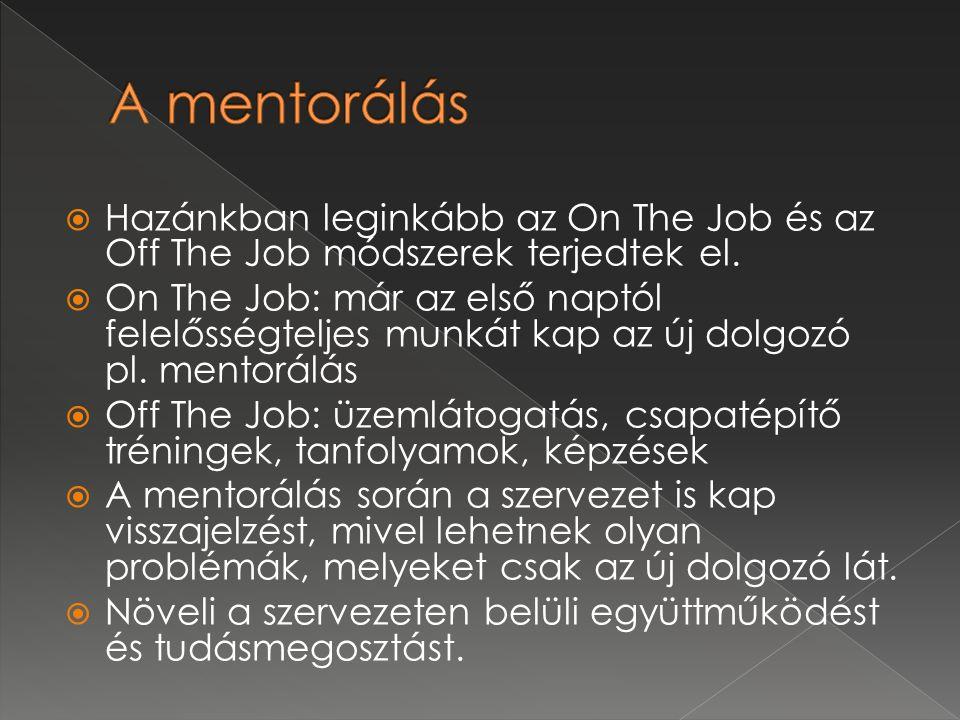  A mentorhoz az alábbi esetekben érdemes fordulni: › Szakmai kérdésekkel kapcsolatban › Új intézményi törekvések megvalósításával kapcsolatban (koedukáció, egyéni bánásmód, nyitottság, önálló döntéshozatal) › Egyéb munkával kapcsolatos kérdéssel, problémával