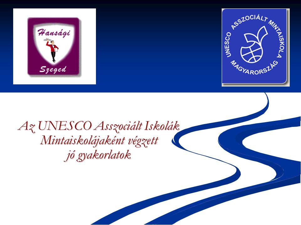 Az UNESCO Asszociált Iskolák Mintaiskolájaként végzett jó gyakorlatok