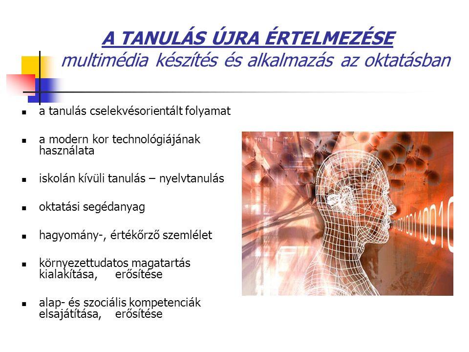 A TANULÁS ÚJRA ÉRTELMEZÉSE multimédia készítés és alkalmazás az oktatásban a tanulás cselekvésorientált folyamat a modern kor technológiájának használ