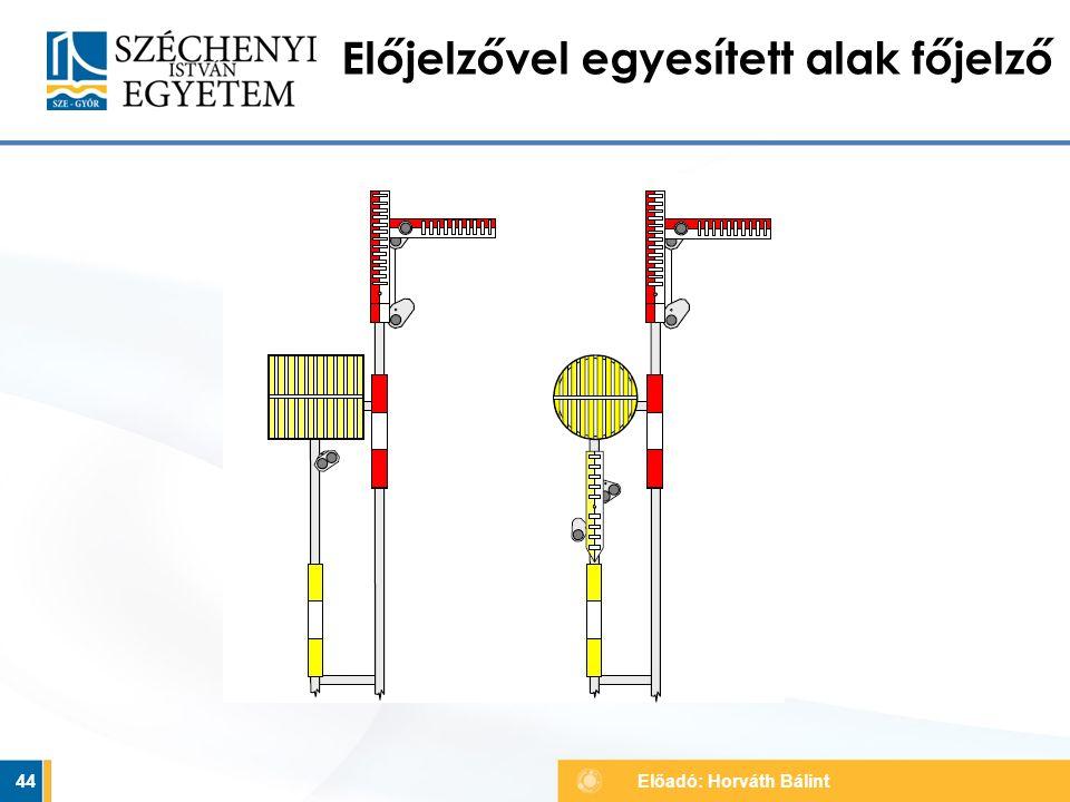 44 Előjelzővel egyesített alak főjelző Előadó: Horváth Bálint
