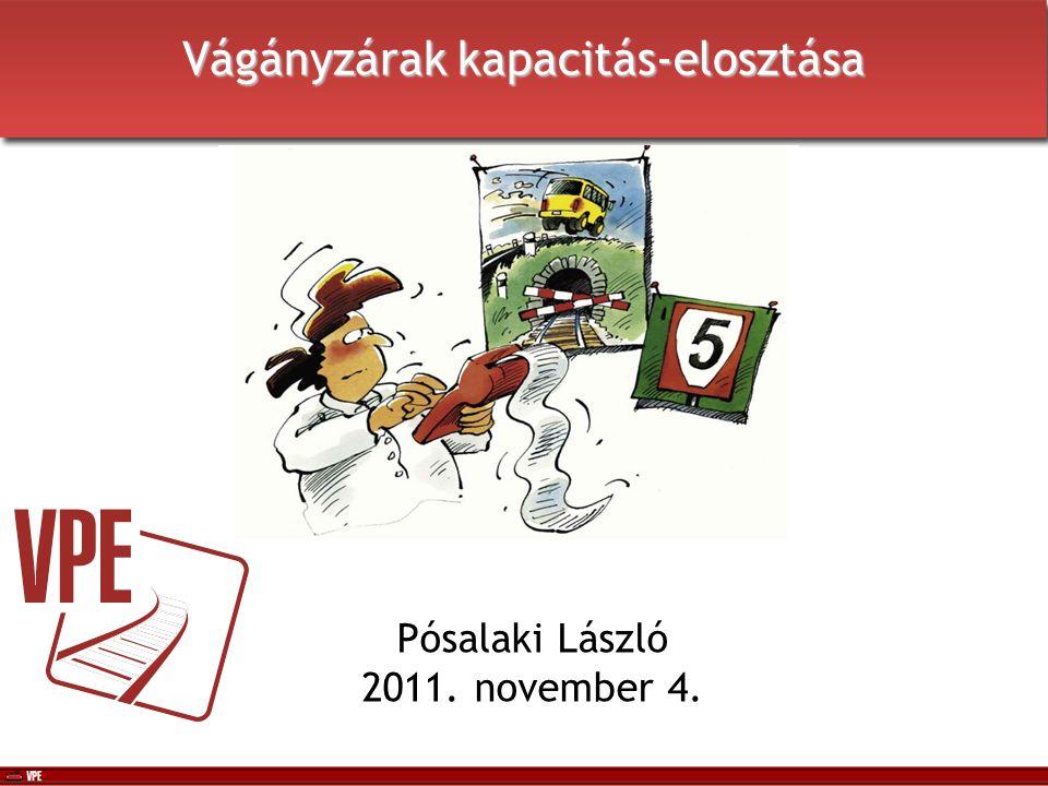 Vágányzárak kapacitás-elosztása Pósalaki László 2011.
