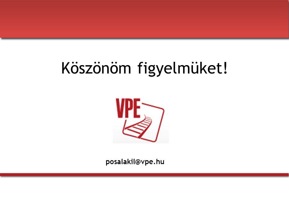 Köszönöm figyelmüket! posalakil@vpe.hu