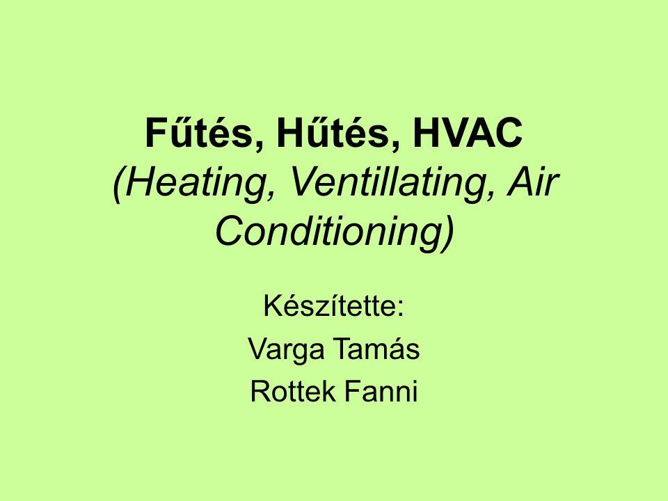 Fűtés, Hűtés, HVAC (Heating, Ventillating, Air Conditioning) Készítette: Varga Tamás Rottek Fanni