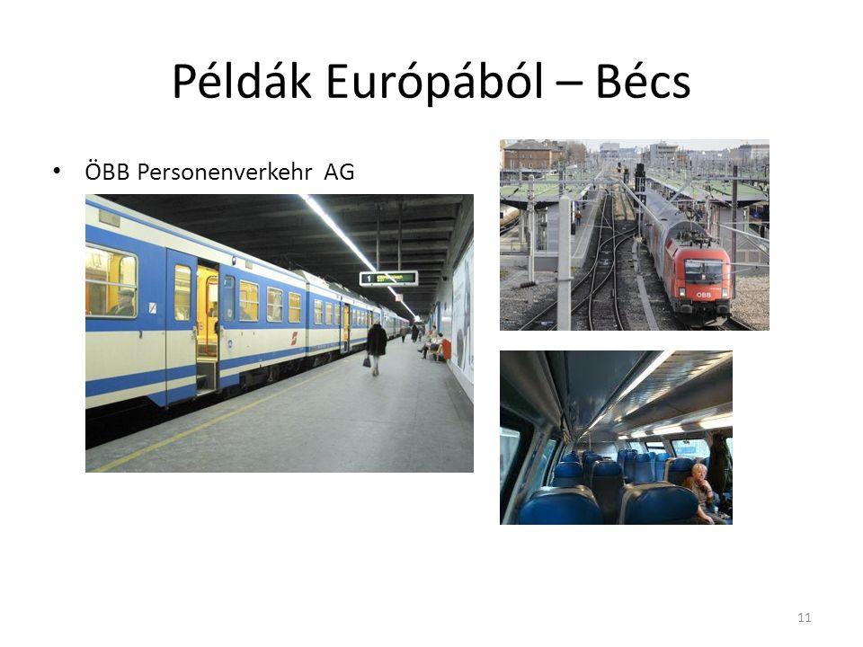 Példák Európából – Bécs ÖBB Personenverkehr AG 11