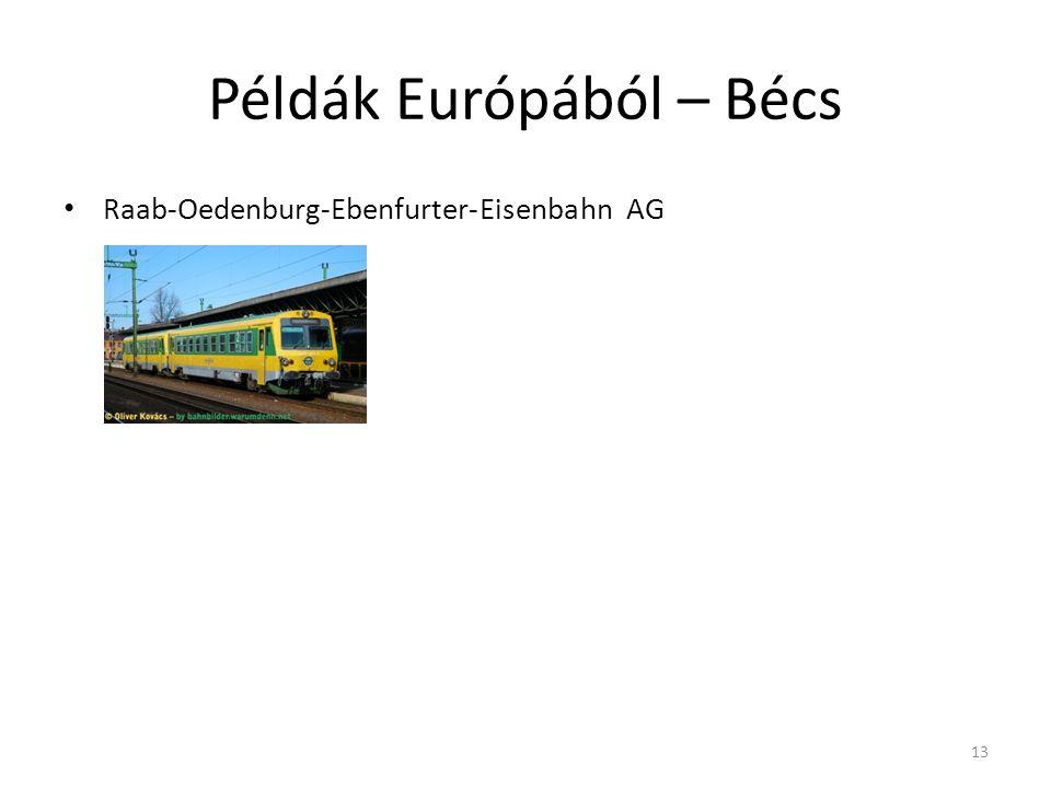 Példák Európából – Bécs Raab-Oedenburg-Ebenfurter-Eisenbahn AG 13