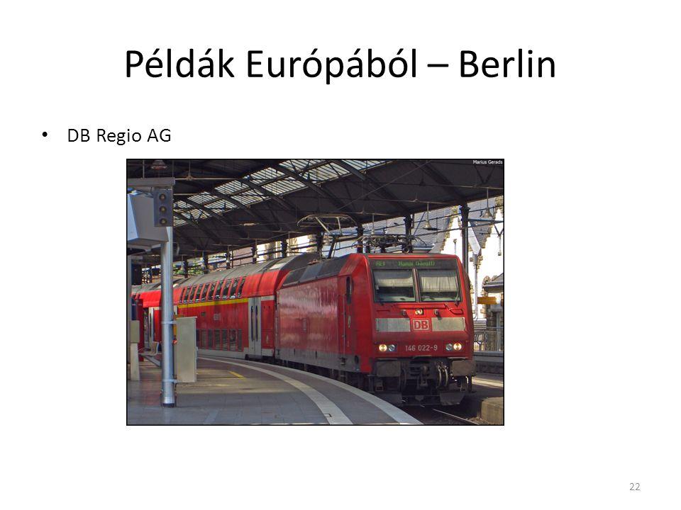 Példák Európából – Berlin DB Regio AG 22