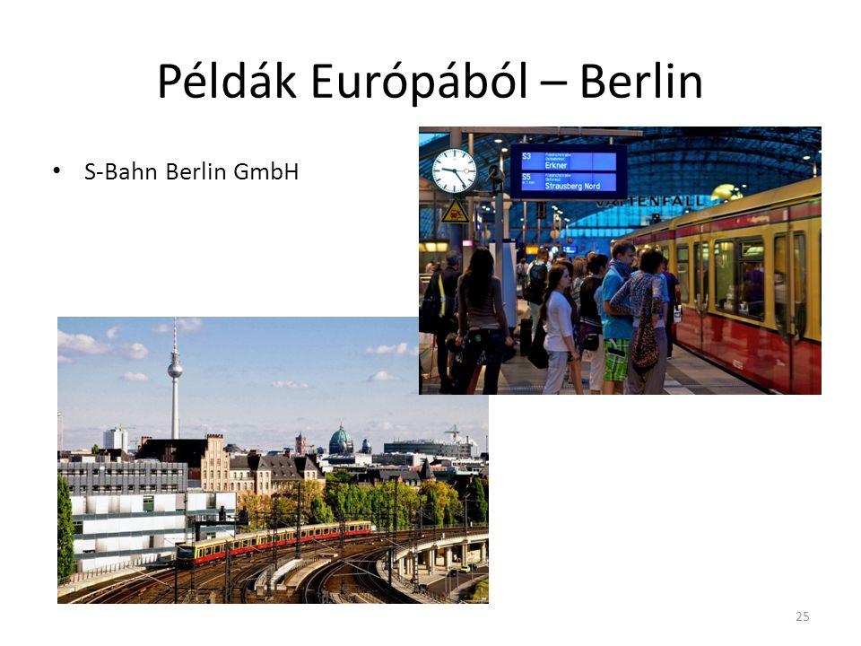 Példák Európából – Berlin S-Bahn Berlin GmbH 25