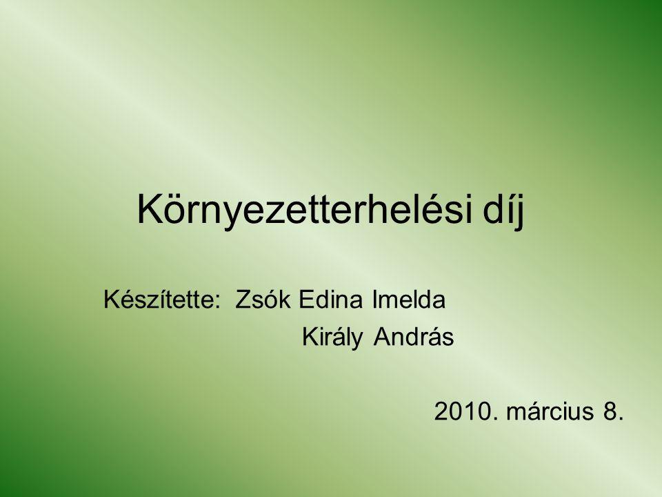Környezetterhelési díj Készítette:Zsók Edina Imelda Király András 2010. március 8.