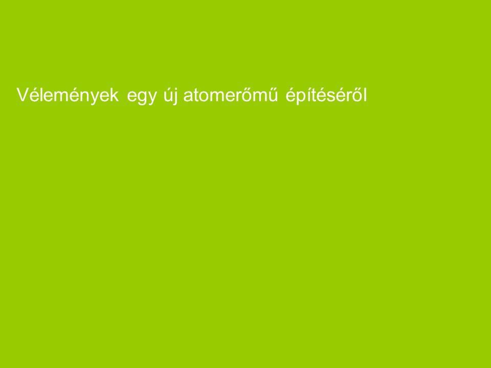 """Project """"Green 2006"""" Paksi Atomerőmű Rt. 19 Vélemények egy új atomerőmű építéséről"""