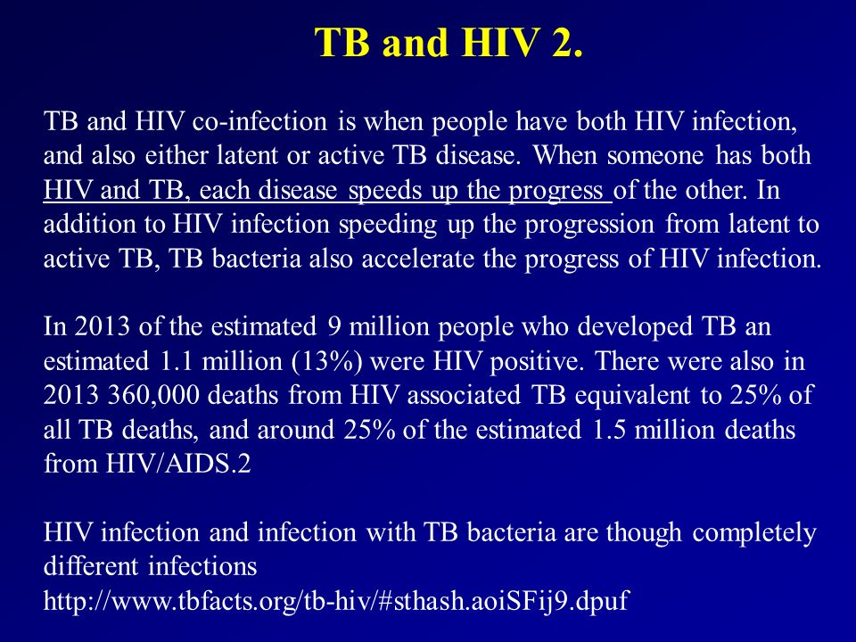 TB and HIV 2.