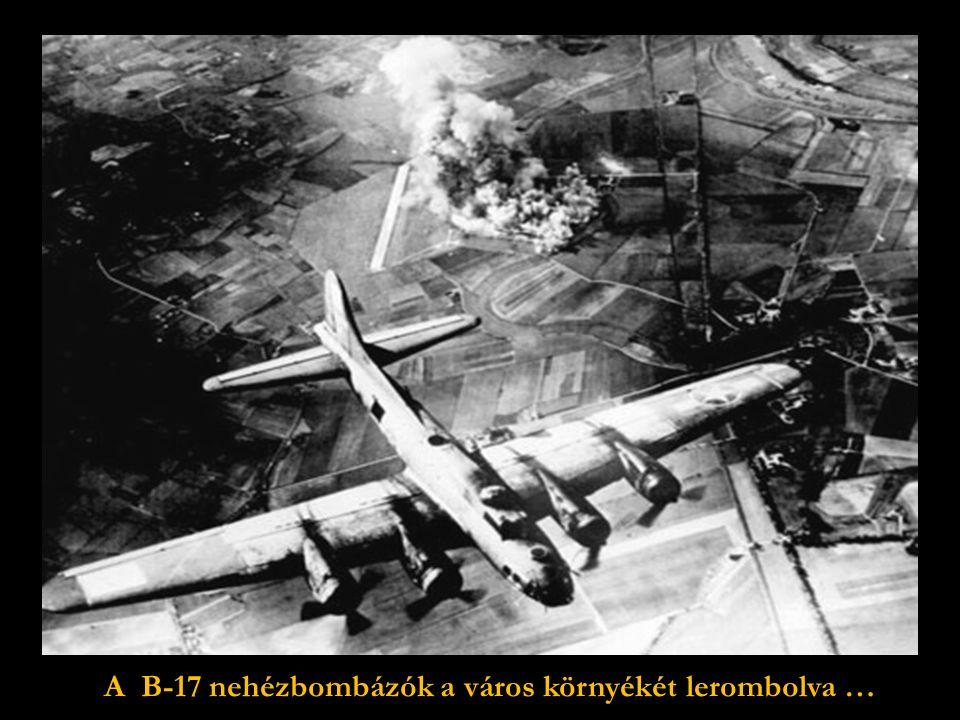 Február 15.:Amerikai bombázó kötelékek,útban Drezda romjai felé.
